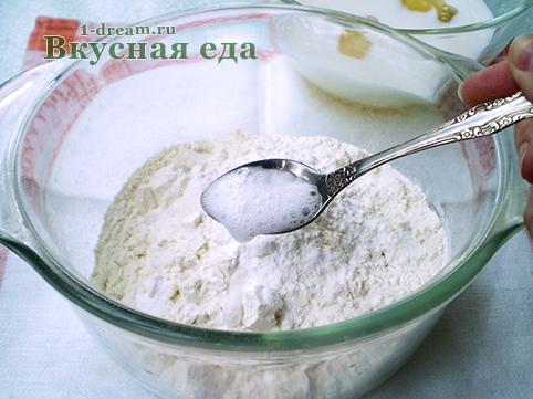 Сода в тесто для лимонного кекса