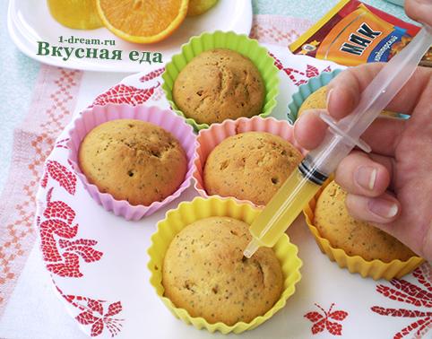 Лимонный кекс с соком