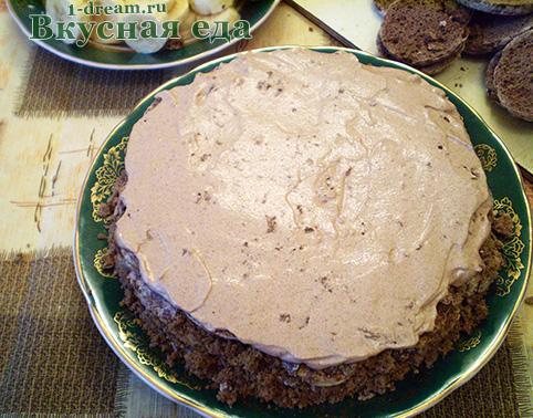 Крем на корж для торта из пряников