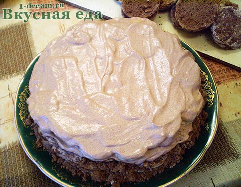 Крем для шоколадного торта без выпечки