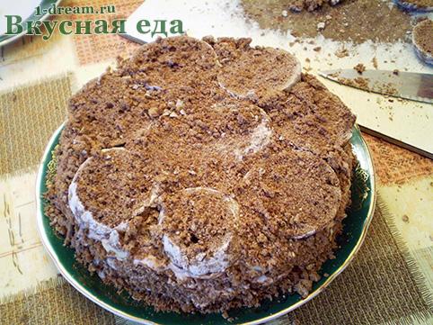 Третий слой в торте без выпечки
