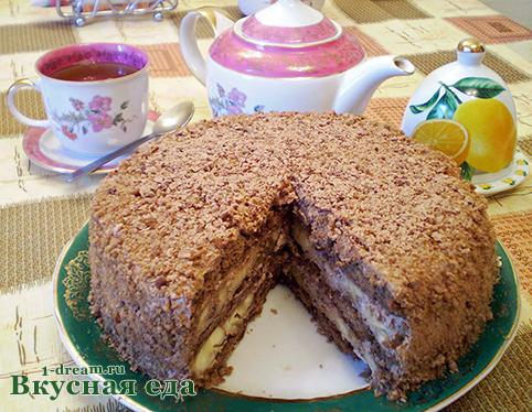 Шоколадный торт и зпряников без выпечки