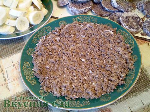 Первый слой для торта из пряников