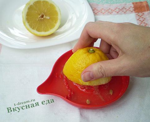 Сок для лимонного кекса