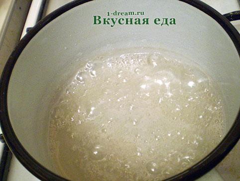 Сироп для заварного белкового крема
