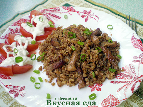 Приготовить гречневую кашу с мясом