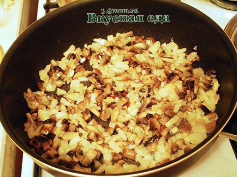 Грибы с луком для гречневой каши