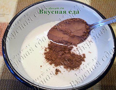 Положить какао в тесто для домашнего торта