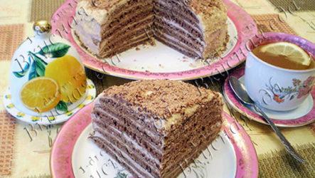Шоколадный торт «Негритянка» на сковороде