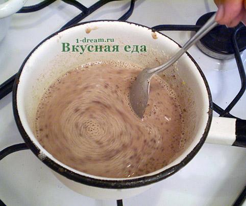 Варить крем для шоколадного торта