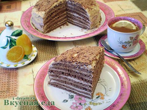 Приготовить домашний  торт без выпечки