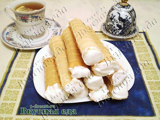 Вафельные трубочки рецепт для электровафельницы
