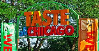 Гастрономический фестиваль в Чикаго