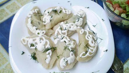 Вареники с картошкой и грибами-рецепт с фото