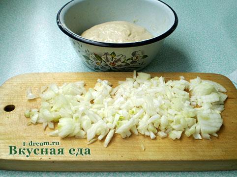 Лук для вареников с картошкой