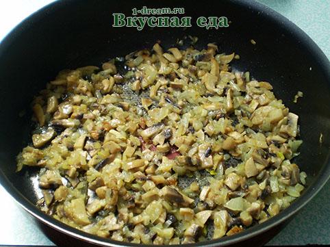 Жарим грибы для начинки