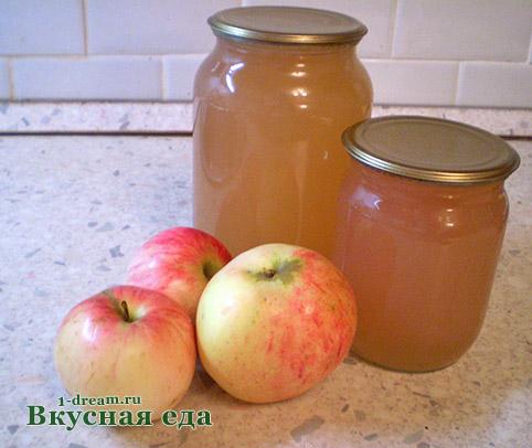 Сок яблочный в соковарке