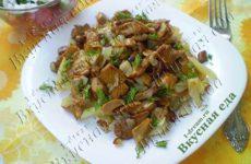 Лисички жареные с картошкой