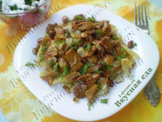 Рецепт лисички с картошкой