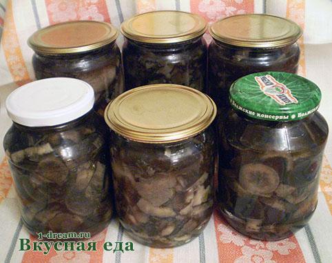 Домашнее маринование грибов