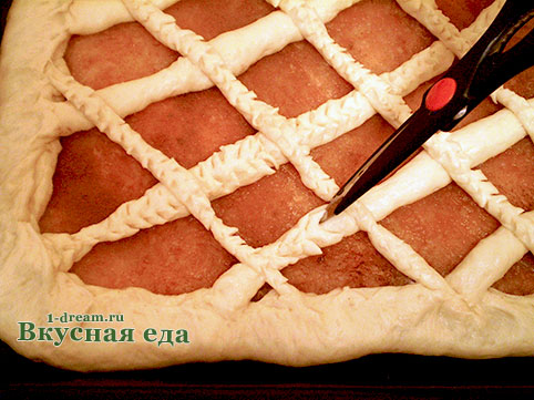 Тесто надрезать для пирога с яблоками