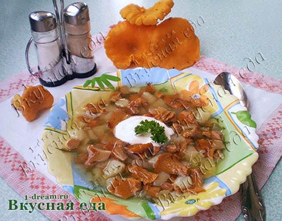 Рецепт супа из лисичек