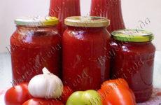 Заправка из помидоров для супа на зиму