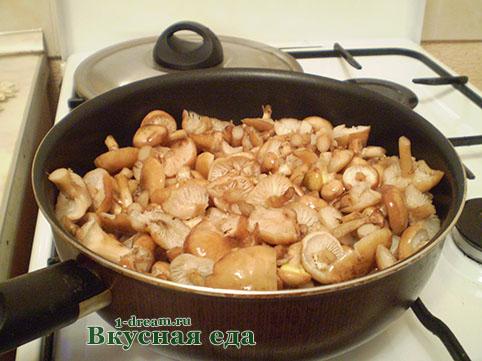 Опята для каши с грибами