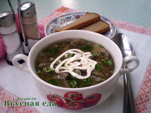 Варим грибной суп из опят