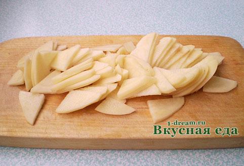 Порезать картошку для тортильи