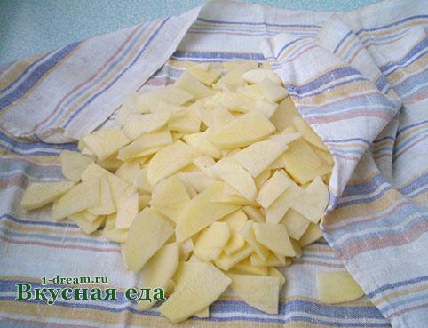 Высушить картошку для тортильи