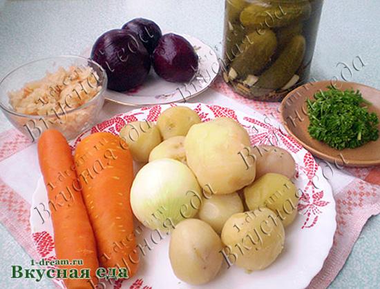 Варим овощи для винегрета