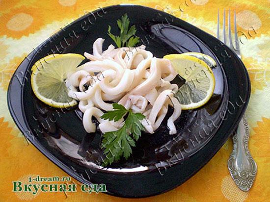 Рецепт маринованных кальмаров