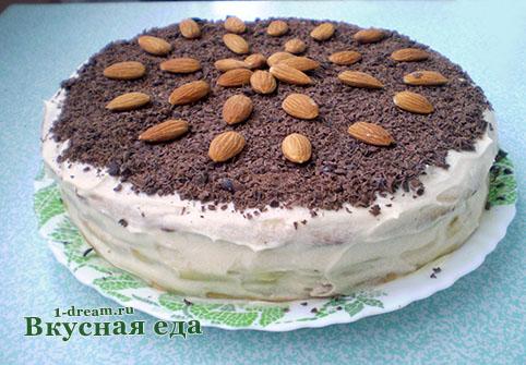 Торт на сковороде  готов