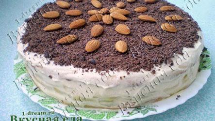 Быстрый торт на сковороде с фото