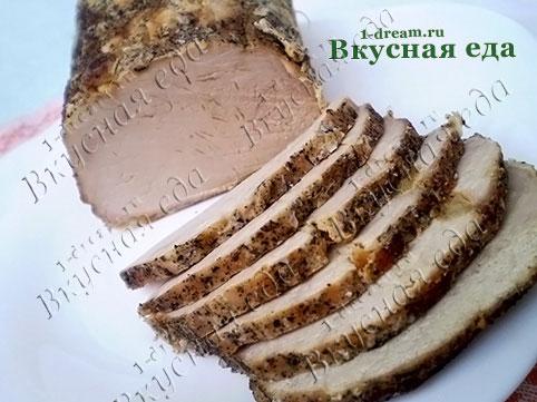 Карбонад свиной в фольге -рецепт с фото