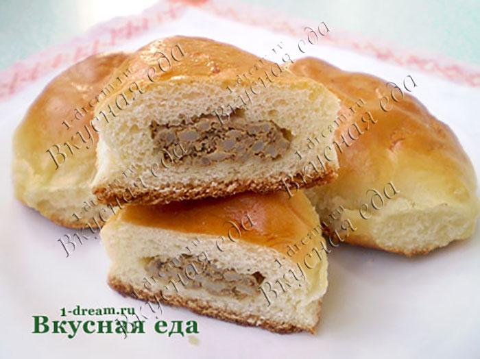 Пирожки с печенкой в духовке-рецепт с фото