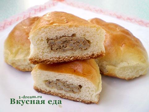 Пирожки с печенкой в духовке