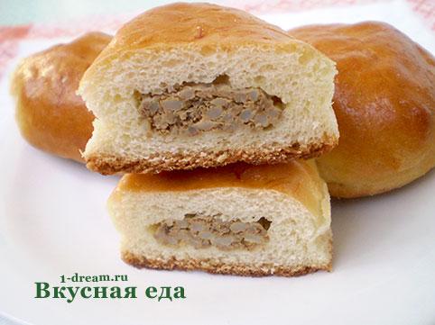 Пирожки с печенью в духовке