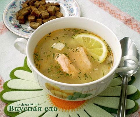 суп из консервированной горбуши с рисом рецепт с фото
