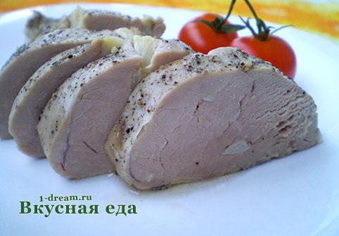 Свиная вырезка запеченая в фольге в духовке готова
