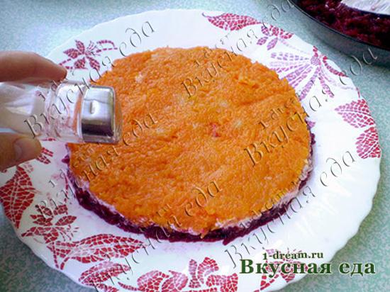 Морковь для селедки под шубой