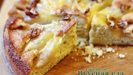 Грушевый пирог-рецепт с фото