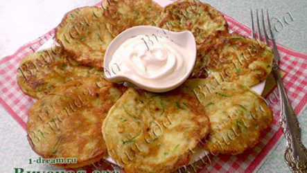 Вкусные оладьи из кабачков-цукини-рецепт с фото