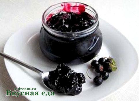 Вкусное варенье из черной смородины