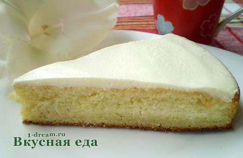 Рецепт манника на кефире с фото