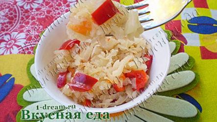 Квашеная капуста с болгарским перцем-рецепт с фото