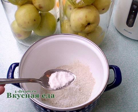 Заливка для моченых яблок