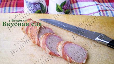 Свиные колбаски в беконе-рецепт с фото