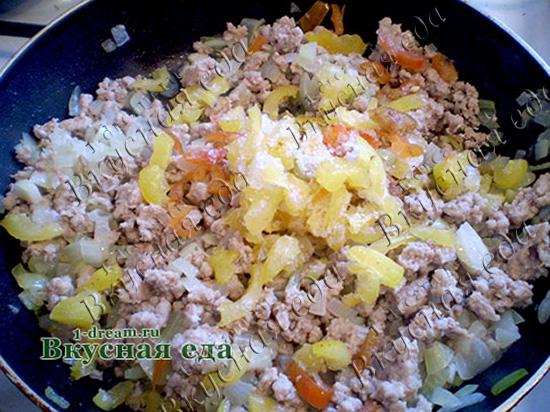 Перец болгарский для лазаньи с фаршем в духовке